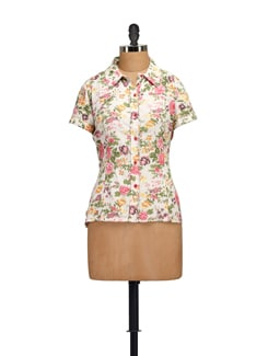 Summer Floral Print Shirt - Guster Ve..