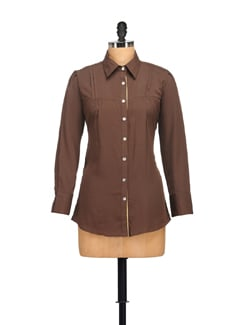 Trendy Brown Shirt - Tapyti