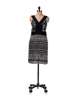 Black And White Printed Dress - ENAH