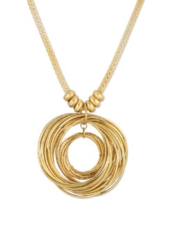 Multi Ring Pendant Necklace - THE PARI