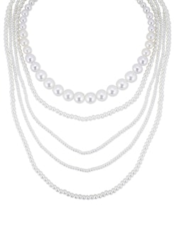 Multi Layered Pearl Necklace - THE PARI