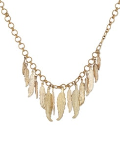 Gold Feather Necklace - THE PARI