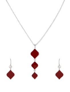 Triple Kite Red Pendant Necklace - THE PARI