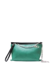 Green Bag With Silver Sling - E2O
