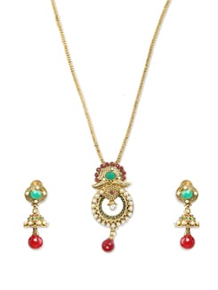 Ethnic Gold Necklace Set - Sparkling Deals