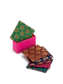 Brocade Coasters (Set Of 6) - SUNDARBAN