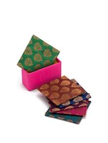 Brocade Coasters (Set Of 6) - SUNDARBAN