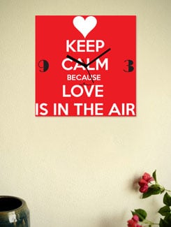 Love Is In The Air' Wall Clock - Zeeshaan