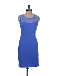 Lacy Blue Bodycon Dress - Miss Chase