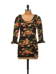 Chic Black Floral Top - SPECIES
