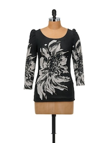 Elegant Black Printed Top - SPECIES