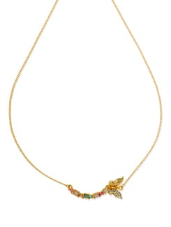 Butterfly 14K Goldplated Necklace - Ivory Tag