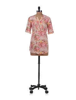 White Floral Tunic - Allen Solly