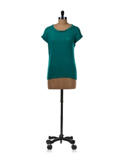 Casual Twisted Neckline T-shirt In Green - Van Heusen