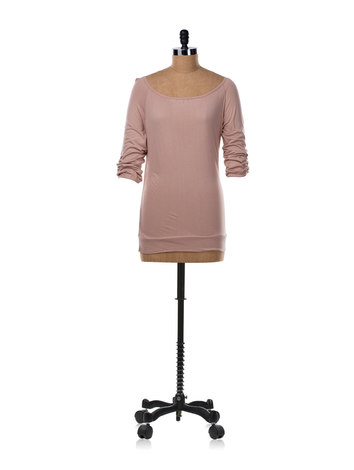 Nude Pink Wide Neck T-shirt - Van Heusen
