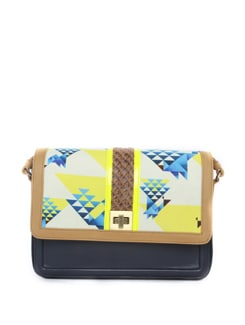Geometric Pattern Big Sling Bag - ZAERA