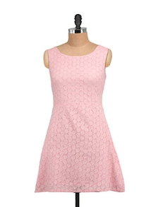 Anna Pink Dress In Cotton Shifley - STREET 9