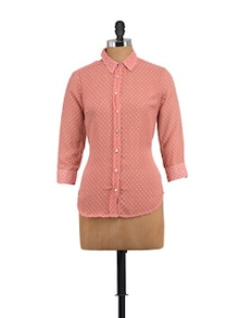 Delicate Pink Dotted Shirt - STREET 9