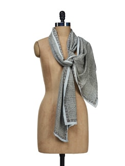 Hand Woven Silk-Crepe Stole - Creative Bee