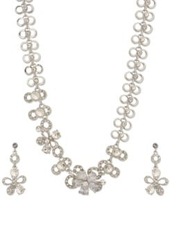Semi Precious Floral Necklace Set - Freddy's