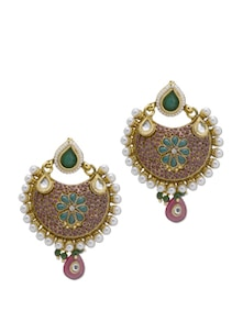 Traditional Green & Gold Earrings - Trinketbag