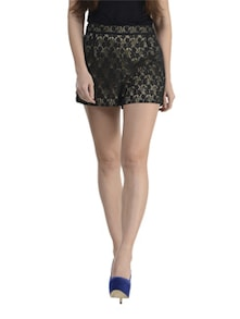 Black Lace Shorts - Schwof