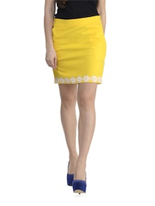 Yellow Lace Skirt - Schwof