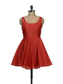 Red Flair Dress - Schwof