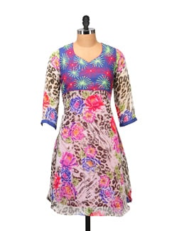 Multicolored Animal Print Kurta - RIYA