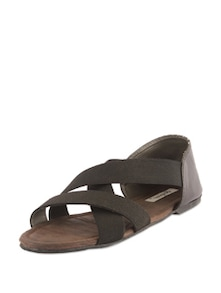 Chocolate Brown Strappy Sandals - Bonjour