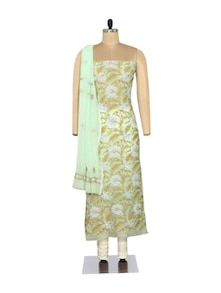 Delicate Green Embroidered Suit - Ada