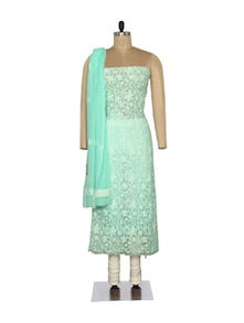 Elegant Sea Green Embroidered Suit - Ada
