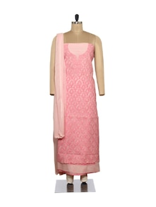 Rich Pink Embroidered Suit - Ada