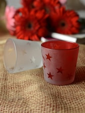 Star Print Tea-light Holders- Set Of 3 - Ambbi Collections