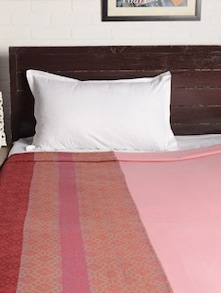 Red Printed Double Bedcover - HOUSE THIS
