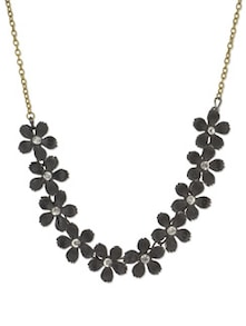 Black Floral Fiesta Necklace - YOUSHINE