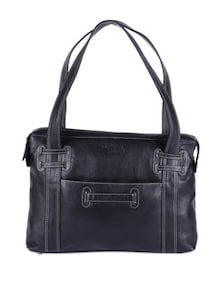Black Leather Tote Bag - Hidekraft