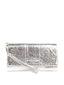 Shimmery Silver Clutch - Carlton London