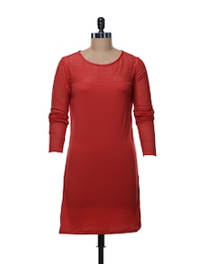 Red Lace Dress - @ 499
