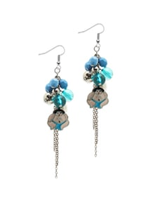 Blue Sumo Drop Earrings - Blend Fashion Accessories
