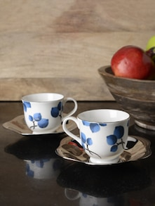 Blueberry Large Cup&Saucer Set Of 2 - Arttd'inox