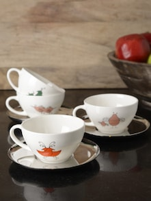 Bird Range Tea Cup With Saucer - Arttd'inox
