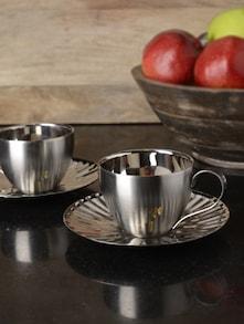 Set Of 2 Mushroom Cup &Saucer - Arttd'inox
