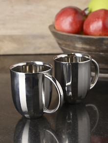 Set Of Two Dome Coffee Mug - Arttd'inox