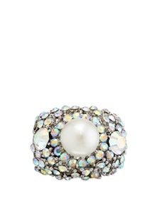 Studded Ring With Bold Pearl Work - Karrat 22