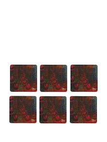 Fern Forest Rubber Coasters - (Set Of 6) - India Circus