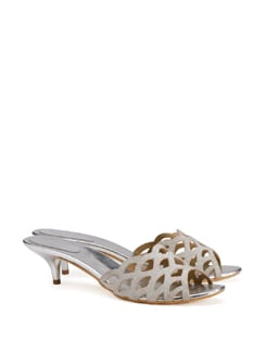 Fish Scale Pattern Heels - CATWALK