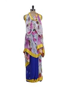 Floral Print Designer Saree - ROOP KASHISH