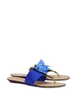 Blue Flower Beach Slipper - CATWALK