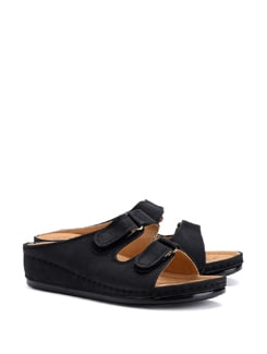Classic Slide Slippers with Velcro Side Buckles - CATWALK